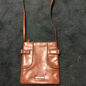 Brown Leather Nine West Crossbody